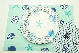 Seashell Wave Dinner Plate - By the Sea Beach Decor