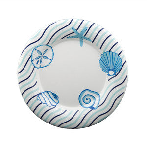 Seashell Wave Salad/Dessert Plate - By the Sea Beach Decor