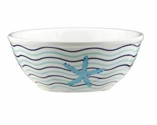 Seashell Coastal Dinnerware Wave Bowl