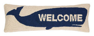 Welcome Whale Nautical Pillow