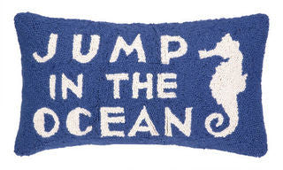 Jump in the Ocean Hook Pillow - By the Sea Beach Decor