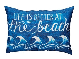 Life is Better at the Beach Pillow - By the Sea Beach Decor