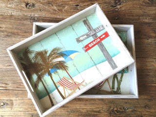 Tiki Bar Tray Set Beach Entertaining