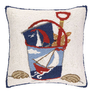 Sand Pail Hook Pillow - By the Sea Beach Decor
