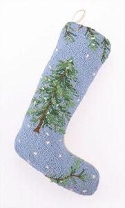 Beach Holiday Tree Hook Stocking - By the Sea Beach Decor