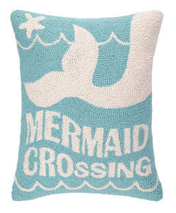 Mermaid Crossing Beach Decor Hook Pillow