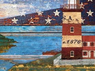 Lighthouse Wooden Nautical Artwork Print