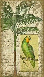 Parrot II Tropical Decor Wood Print - By the Sea Beach Decor