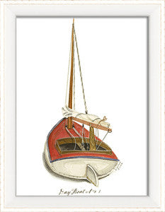 Dayboat 1 Framed Art - By the Sea Beach Decor