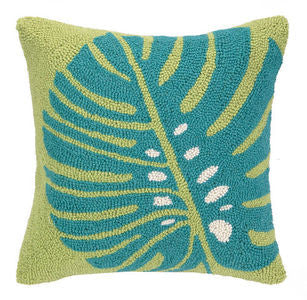 Clearwater Palm Leaf Hook Pillow - By the Sea Beach Decor