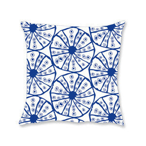 Navy Sea Urchin Coastal Decor Pillow
