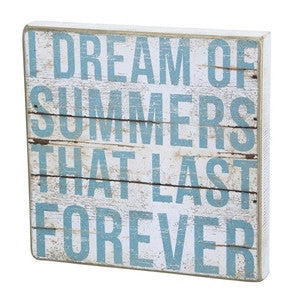 Summer Last Forever Beach Sign