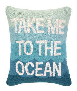 Take Me to the Ocean Beach Decor Hook Pillow