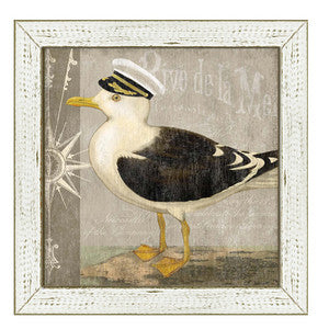 Little Seagull I Framed Art - By the Sea Beach Decor