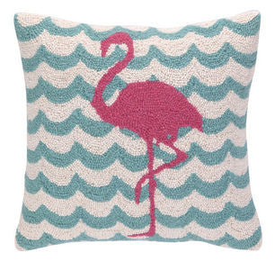 Chappy Point Flamingo Hook Pillow - By the Sea Beach Decor