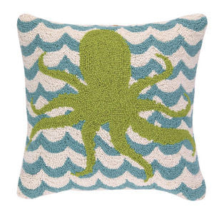 Chappy Point Octopus Hook Pillow - By the Sea Beach Decor