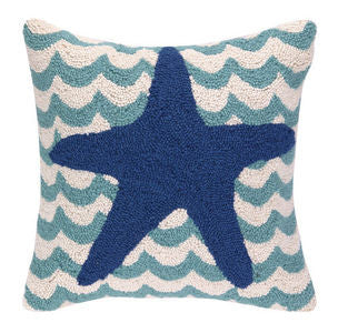 Chappy Point Starfish Hook Pillow - By the Sea Beach Decor