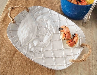 Crab Ceramic Platter - By the Sea Beach Decor