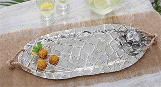 Crab Aluminum Serving Platter - By the Sea Beach Decor