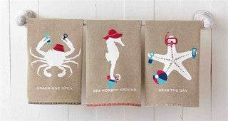 West Jetty Sealife Guest Towel Set - By the Sea Beach Decor