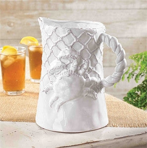 Crab Coastal Decor Pitcher - By the Sea Beach Decor