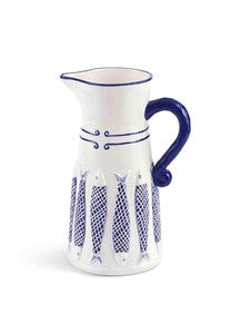 Blue Net Fish Pitcher - By the Sea Beach Decor