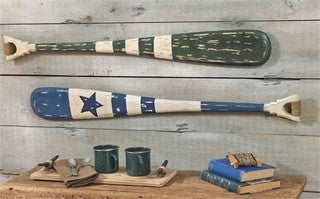 Nautical Boat Oar - By the Sea Beach Decor