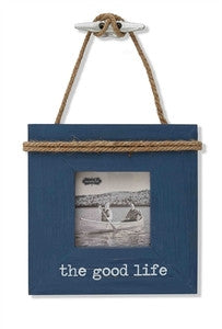 The Good Life Boat Cleat Frame - By the Sea Beach Decor