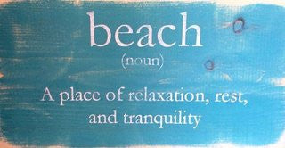 Beach Definition Wood Sign - By the Sea Beach Decor