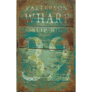 Patterson Wharf Wooden Artwork Print