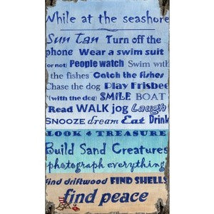 Peace at the Beach Wood Print - By the Sea Beach Decor