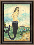 Mermaid I've Been Spotted Framed Art - By the Sea Beach Decor