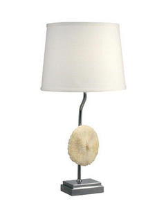 Mushroom Coral Table Lamp - By the Sea Beach Decor
