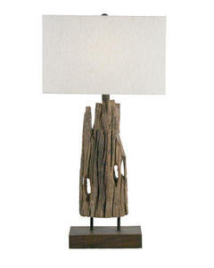 Driftwood Table Lamp - By the Sea Beach Decor