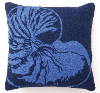 Dark Blue Nautilus Hook Pillow - By the Sea Beach Decor