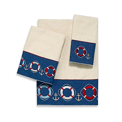 Life Preserver Ivory Towel Collection - By the Sea Beach Decor