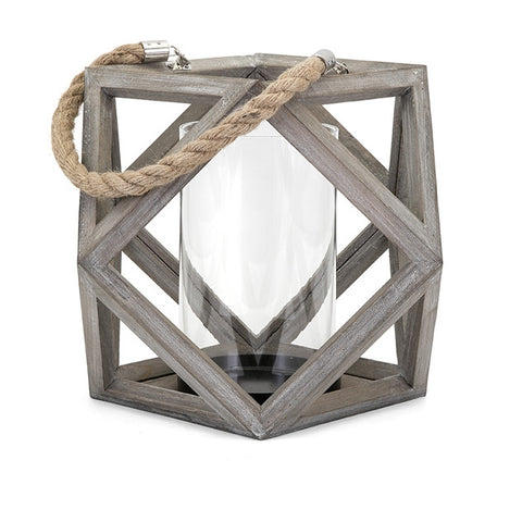 Ares Large Wooden Lantern - By the Sea Beach Decor
