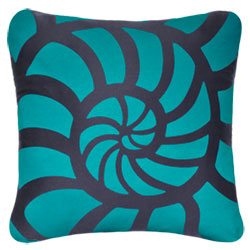 Oceanside Nautilus Shell Pillow - By the Sea Beach Decor