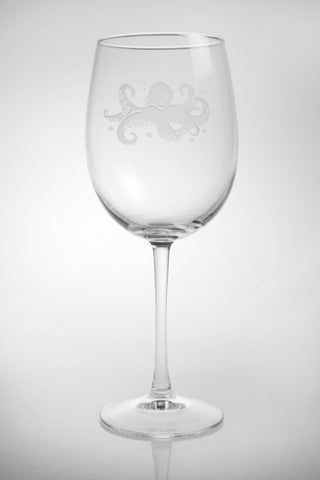 Octopus Engraved Glassware - By the Sea Beach Decor