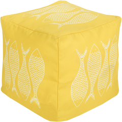 Yellow Coastal Seating Pouf