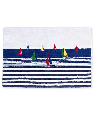 Regatta Bath Rug - By the Sea Beach Decor