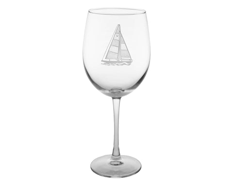 Sailboat Engraved Glassware - By the Sea Beach Decor