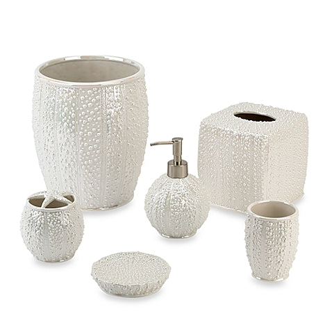 Sea Urchin Lotion Pump & Toothbrush Holder - By the Sea Beach Decor