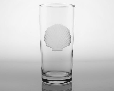 Seashell Engraved Glassware - By the Sea Beach Decor