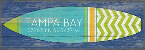Surfboard Artwork Wood Print #2 - By the Sea Beach Decor