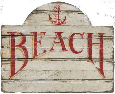 Beach Anchor Wood Print - By the Sea Beach Decor