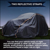 For 2 Seat Waterproof Windproof UTV Cover Dustproof Storage Cover for Polaris Ranger RZR 570 700 800 900 S 1000 XP 4Door 2015-2020 Heavy Duty 190T PU Material with 2 Night Reflective Stripes and Carrying Bag
