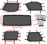 Window Shade Net Roll Cage Mesh Guard Front and Rear Window Shield Protective Net for UTV Polaris RZR 900/1000 4Seat 2015-2019(5Pcs/Set)