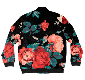 Seamless Floral Bomber Jacket + FREE MATCHING MASK!