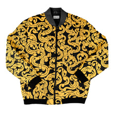 Load image into Gallery viewer, Gold Pattern Bomber Jacket + FREE MATCHING MASK!
